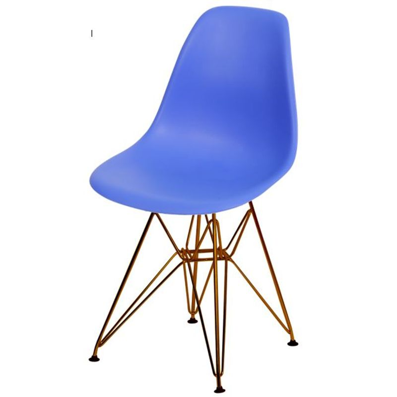Cadeira-Eames-Polipropileno-Fosco-Azul-Escuro-Base-Cobre---45976-
