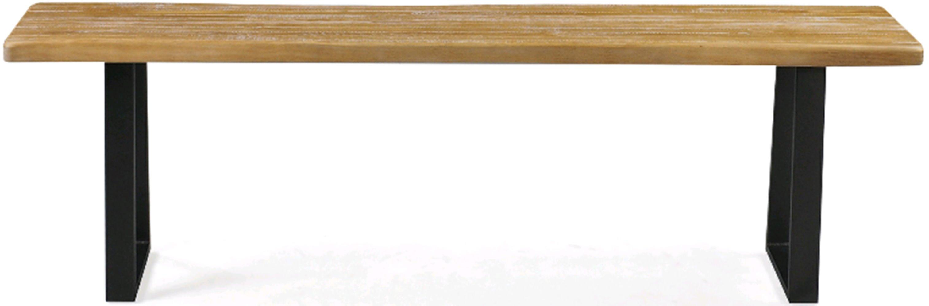 Banco Boston Metal Grafite Driftwood 1,90 MT (LARG) - 46220