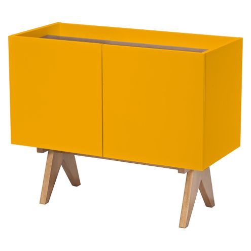Adega-Paes-Laqueada-cor-Amarelo-Fosco-com-Tampo-Nogal-91-cm--LARG----46237