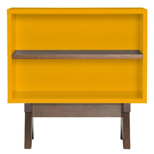 Aparador-Massimo-Laqueado-cor-Amarelo-Fosco-com-Base-Nogal-60-cm--LARG----46292
