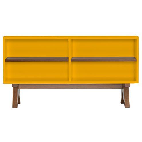 Aparador-de-Sofa-Massimo-Laqueado-cor-Amarelo-Fosco-com-Base-Nogal-120-MT-LARG----46295