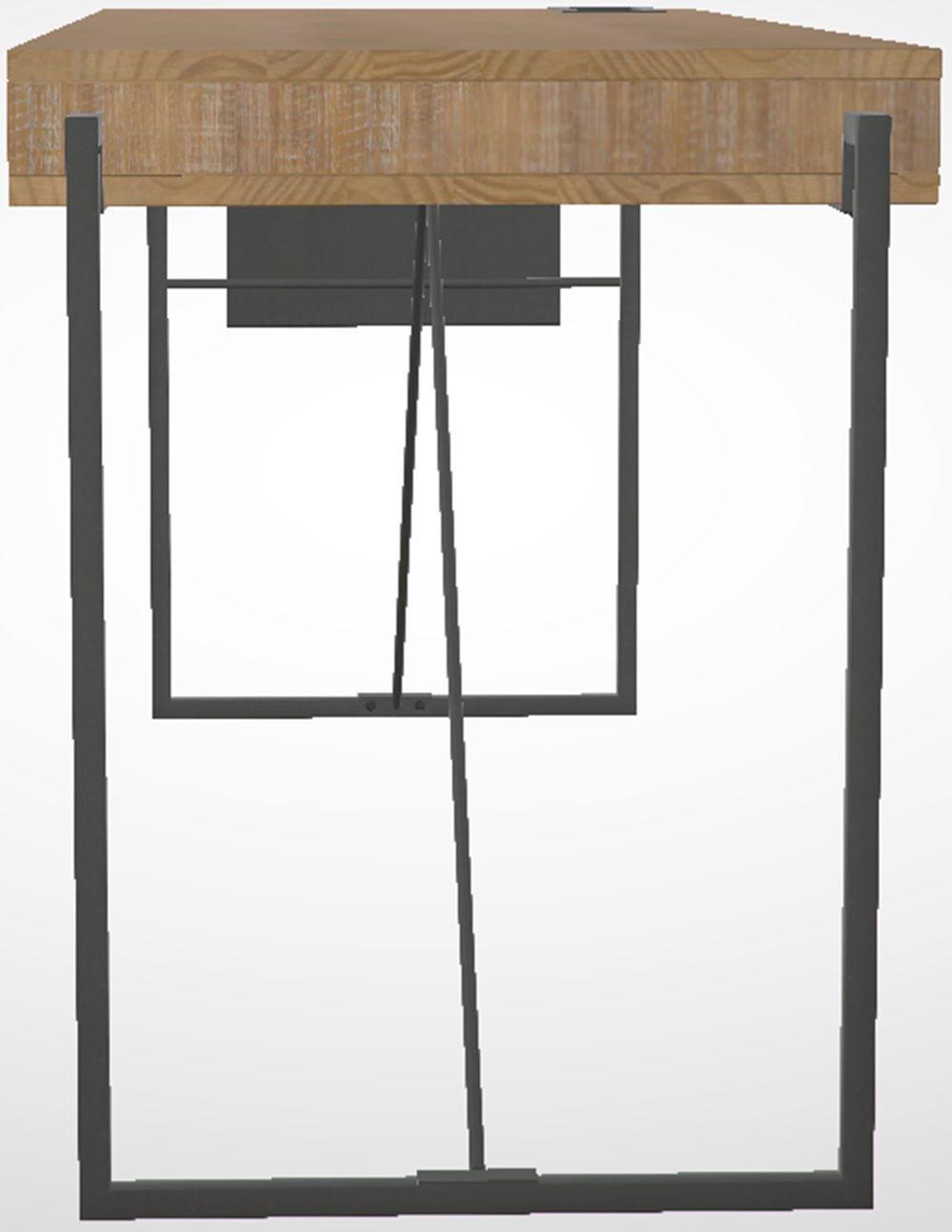 Escrivaninha Welt Metal Grafite Driftwood 1,60 MT (LARG) - 46345