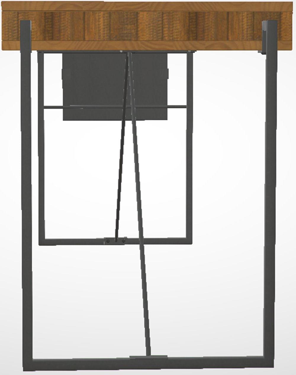 Escrivaninha Welt Metal Grafite Rustic Brown 1,60 MT (LARG) - 44645
