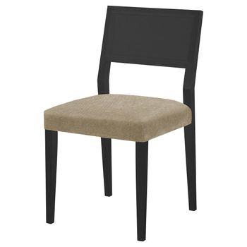 Cadeira-Caiscais-Assento-cor-Bege-com-Base-Laca-Preto-Fosco---46491