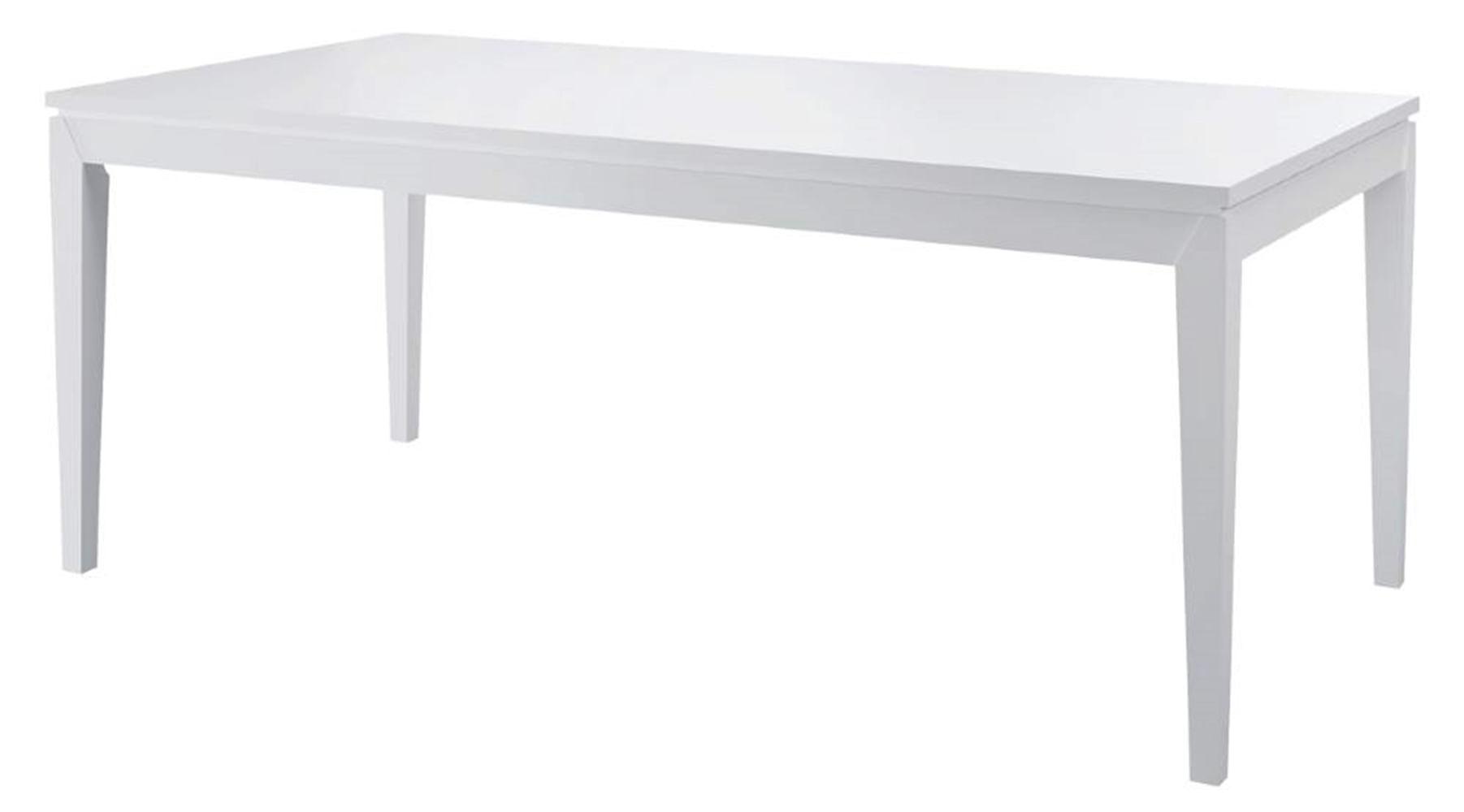 Mesa de Jantar Retangular Madeleine Laqueado cor Branco Fosco 1,80 MT (LARG) - 46567