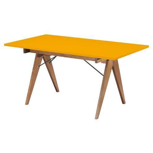 Mesa-de-Jantar-Massimo-Tampo-cor-Amarelo-Fosco-com-Pes-Nogal-160-MT--LARG----46596