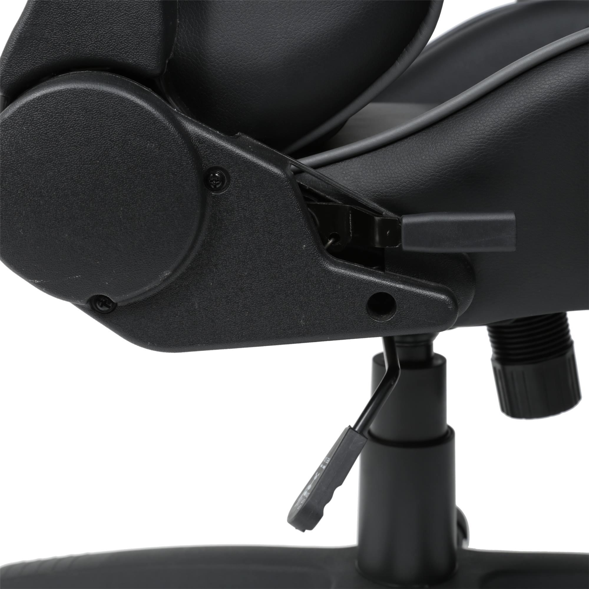 Cadeira Office Gamer Fun em PU cor Preto com Base Nylon - 46655
