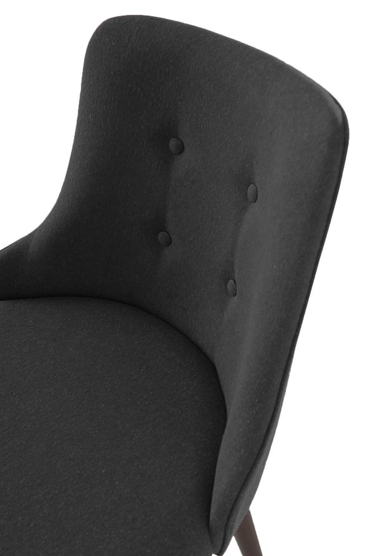 Cadeira Francis Assento Rustico Preto com Base Tabaco - 46693