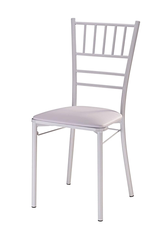 Cadeira Tiffany Assento Korino Branco com Base Branca - 46859