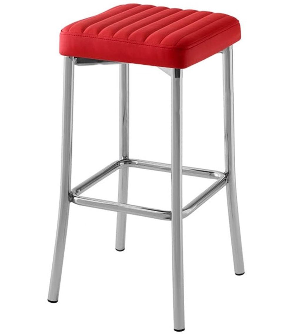 Banqueta Seat Gomada Assento Dunas Vermelho com Base Cromada 66 cm (ALT) - 47050