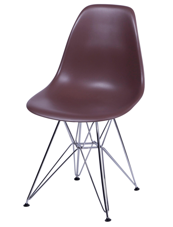 Cadeira Eames Polipropileno Cafe Base Cromada - 14909