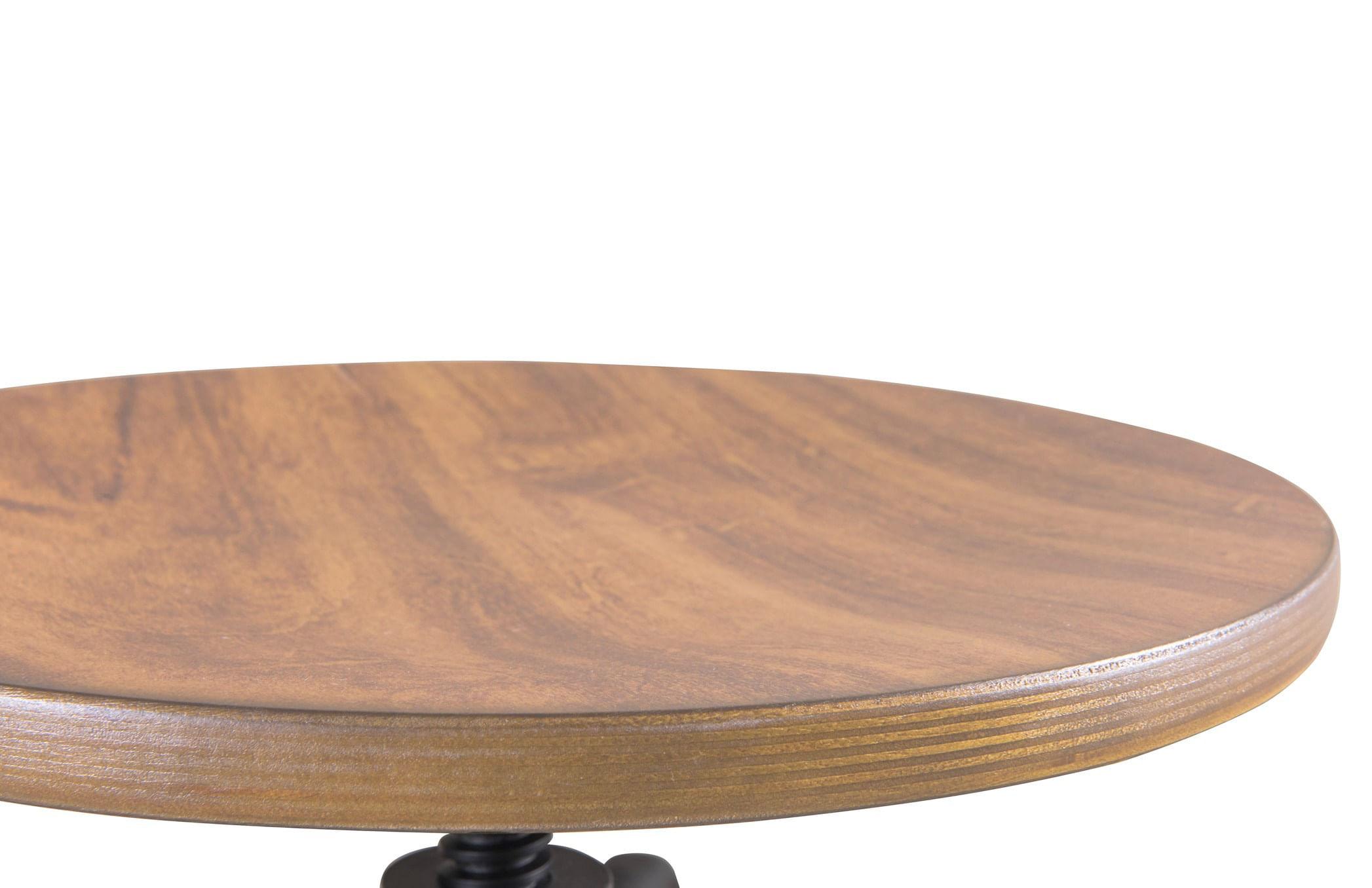 Banqueta Industrial Pecorino Assento Freijo com Base Preta 78 cm (ALT) - 44890