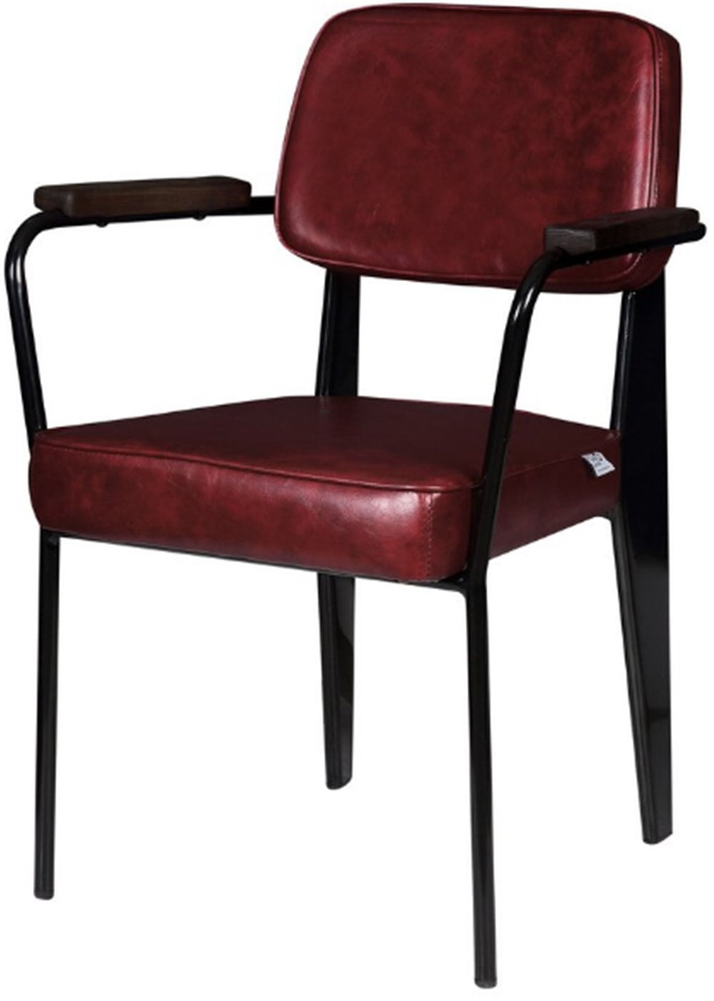 Cadeira Jean Provve Estofada c/ Braco Vermelha 81 cm (ALT) - 47261
