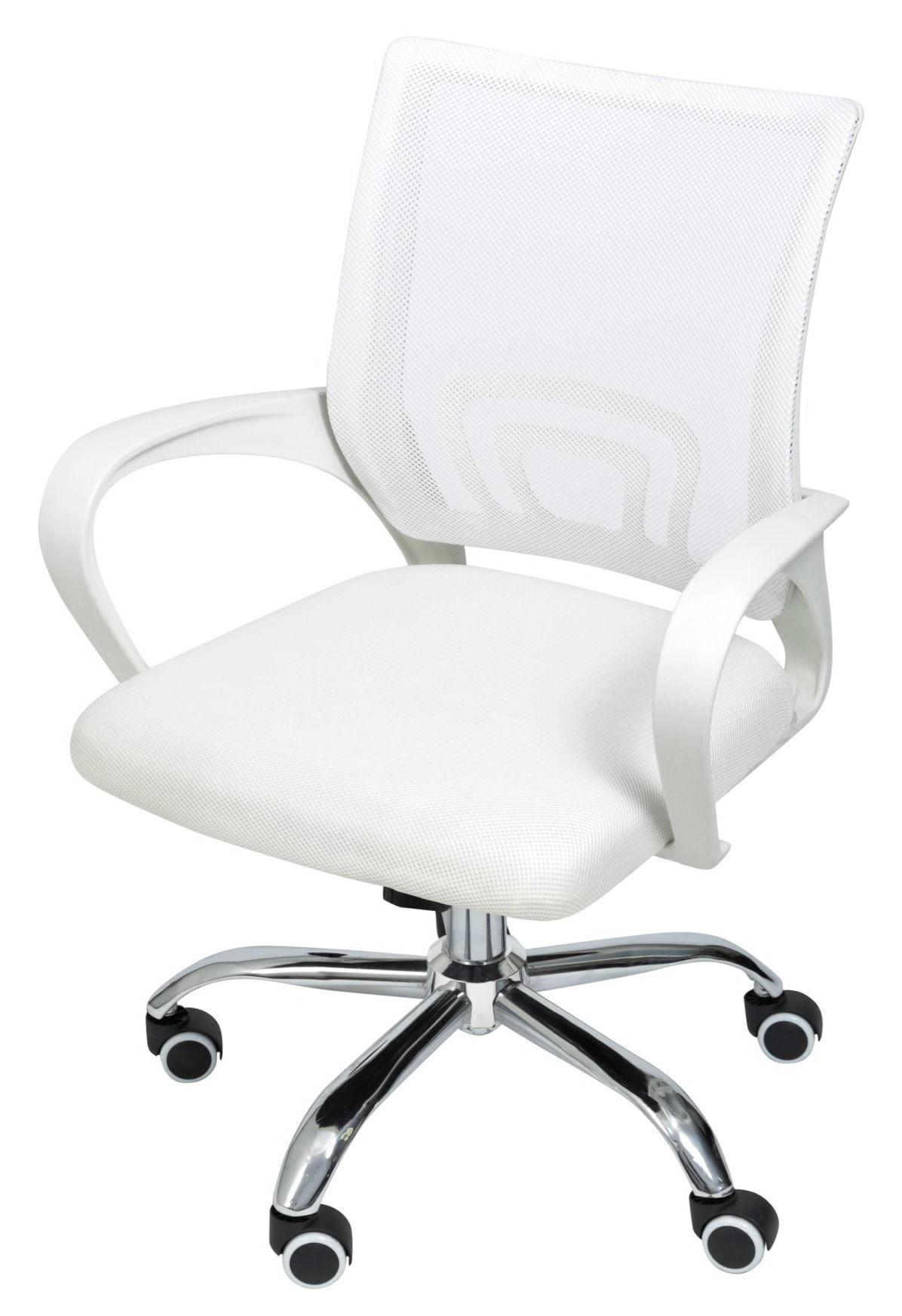 Cadeira Office Osorno Tela Mesh Branca com Base Rodizio Cromada - 47407