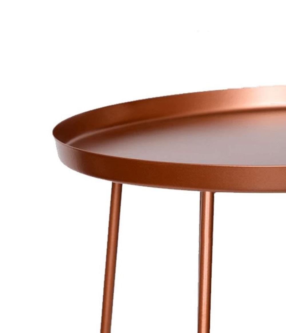 Mesa Apoio Trevo em Aco Carbono cor Cobre 40 cm - 48534