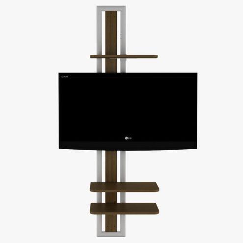 Rack-Giratorio-Tech-em-MDF-cor-Caramelo-UV-com-Metal-Epoxi-Branco---48660