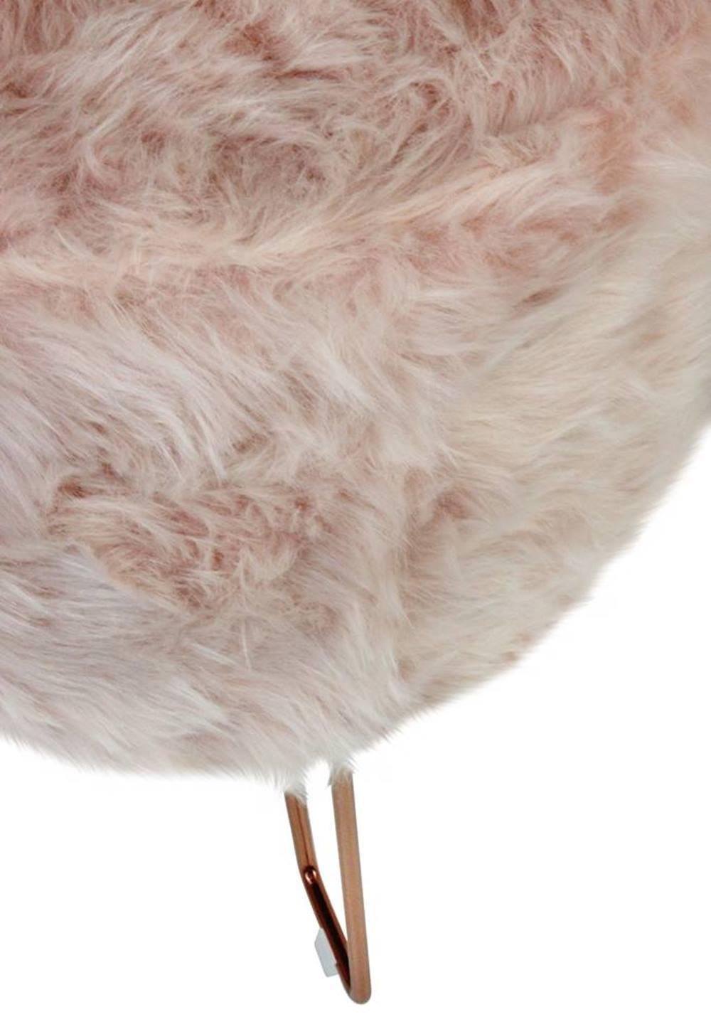 Puff Libre Pele Sintetica Rosa Base Rose 48 cm - 49069
