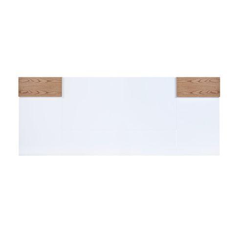 Cabeceira-Barca-Branca-Brilhante-com-Carvalho-Amendoa-300-MT--LARG--para-Colchao-Queen---44804