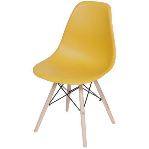 Cadeira-Eames-Polipropileno-Acafrao-Fosco-Base-Madeira---49331-