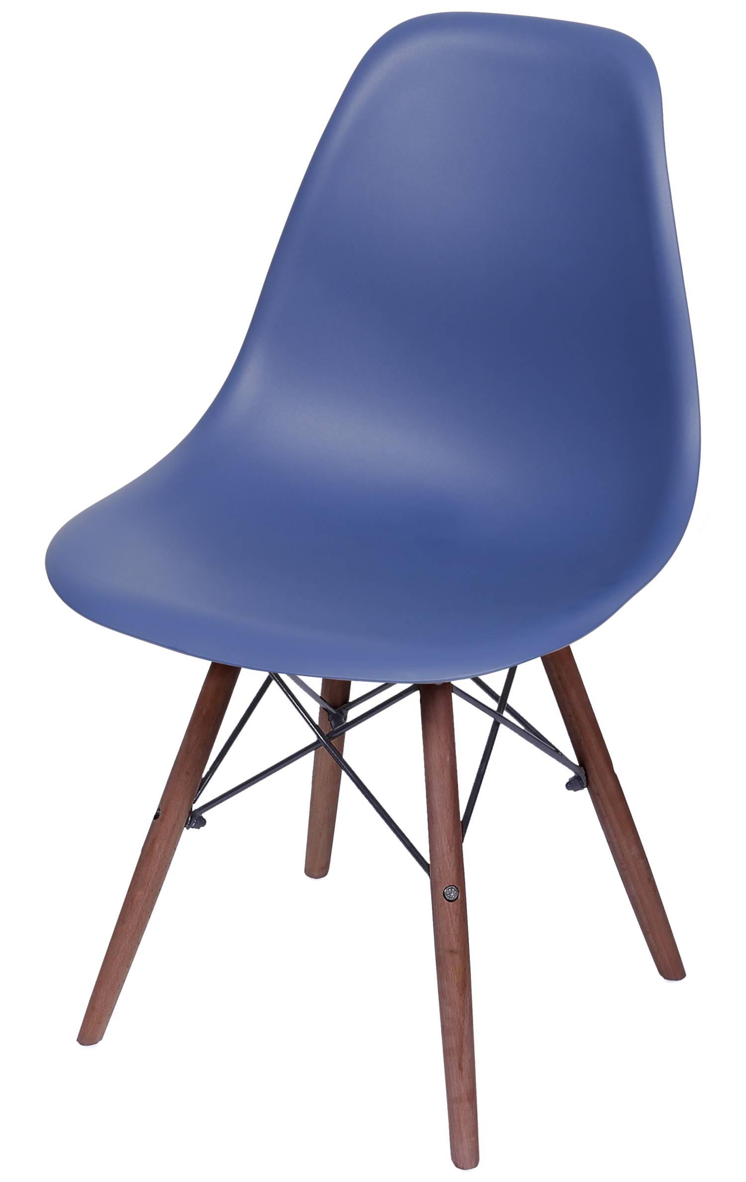 Cadeira Eames Polipropileno Azul Marinho Fosco Base Escura - 49336