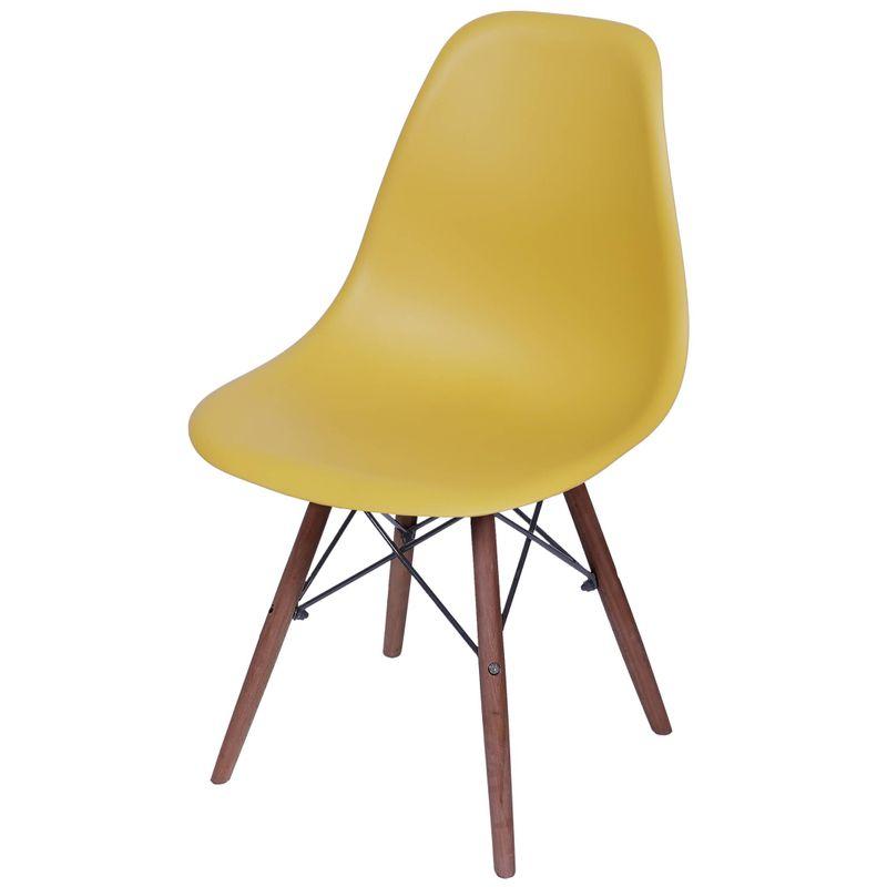 Cadeira-Eames-Polipropileno-Acafrao-Fosco-Base-Escura---49343