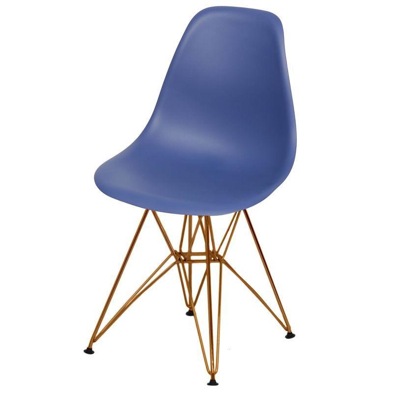 Cadeira-Eames-Polipropileno-Fosco-Azul-Marinho-Base-Cobre---49368