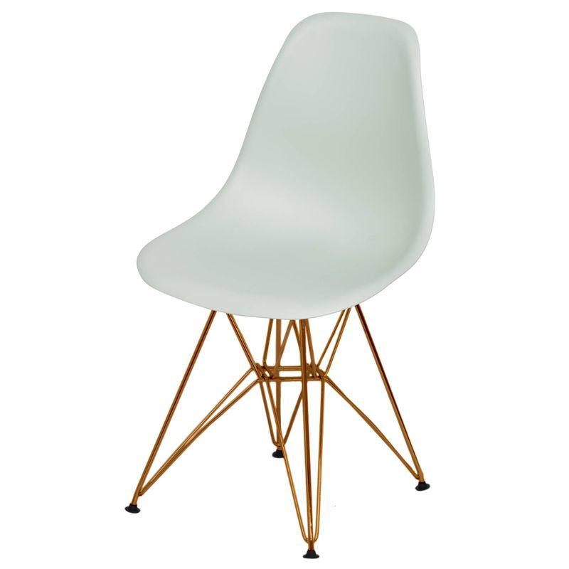 Cadeira-Eames-Polipropileno-Fosco-Verde-Claro-Base-Cobre---49370