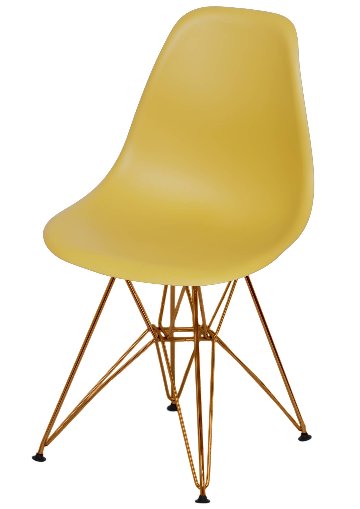 Cadeira Eames Polipropileno Acafrao Base Cobre - 49372