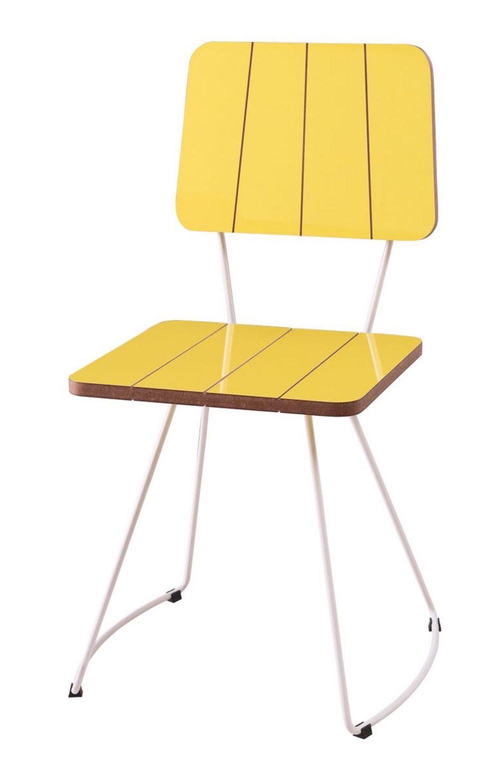 Cadeira Santinho Amarela com Base Curve Branca - 49557