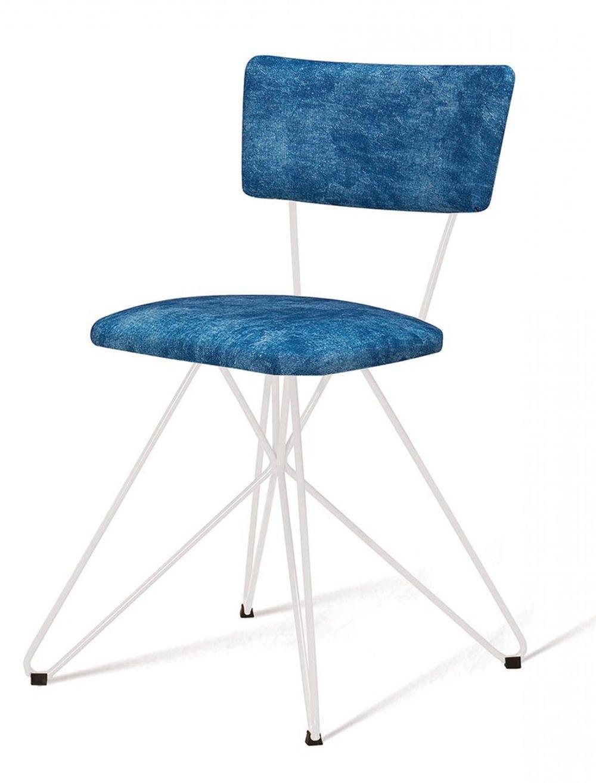Cadeira Pop Azul Base Estrela Branca - 49563