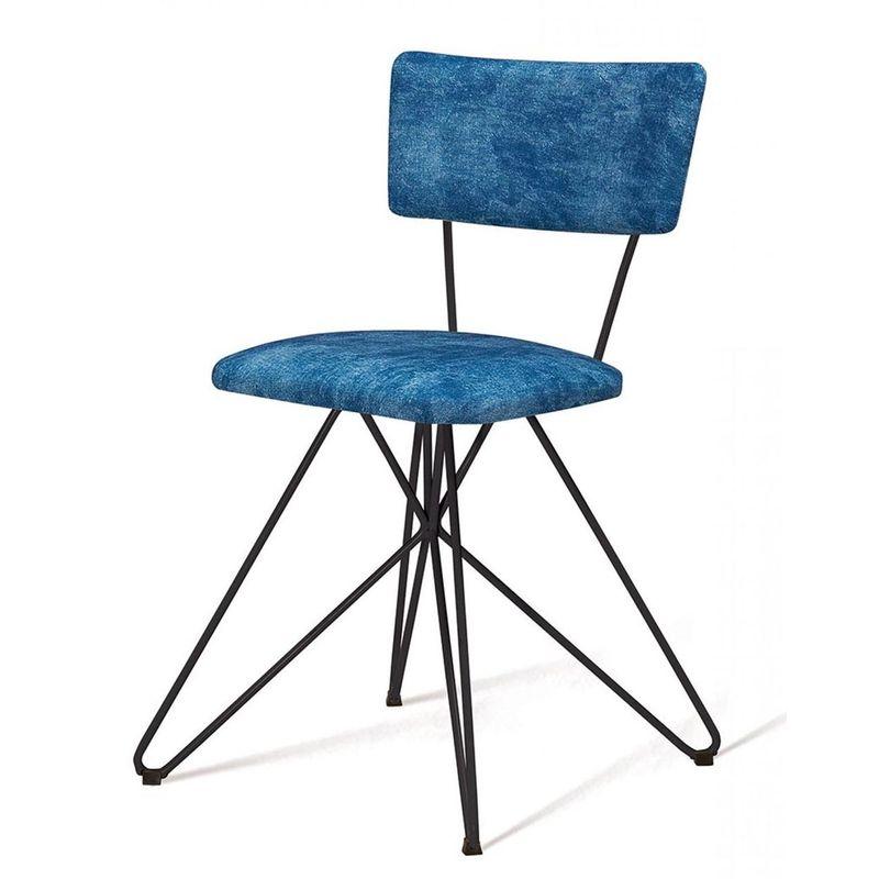 Cadeira-Estofada-Pop-Azul-Com-Base-Estrela-Preta---49562