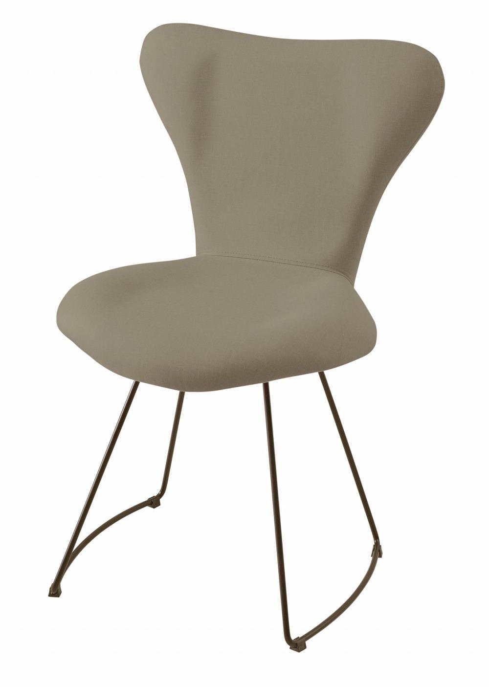 Cadeira Jacobsen Series 7 Cinza com Base Curve Preta - 49611