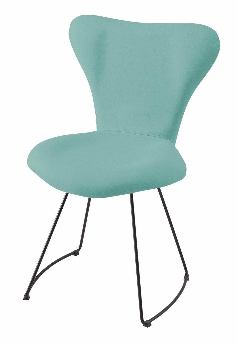 Cadeira Jacobsen Series 7 Verde Claro com Base Curve Preta - 49618
