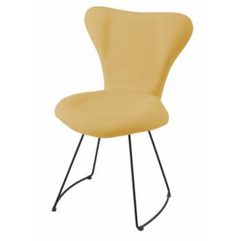 Cadeira-Estofada-Series-7-Ocre-com-Base-Curve-Preta---49619-