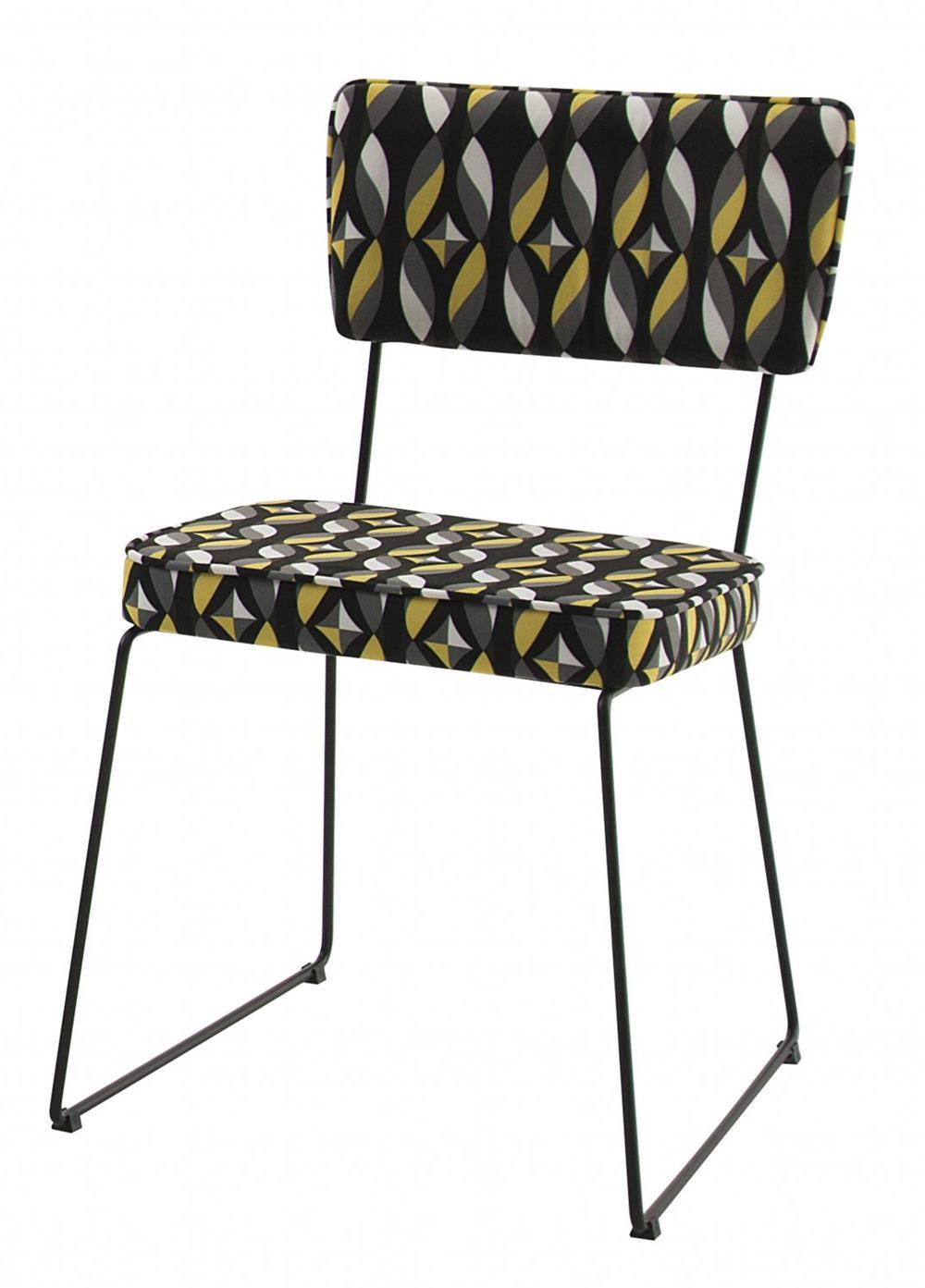 Cadeira Milan Estampa Geo Sal Base Preta - 49679