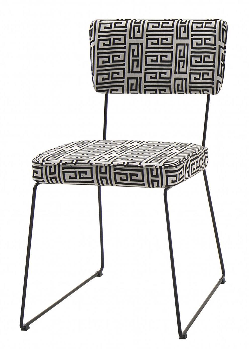 Cadeira Milan Estampa Lab Base Preta - 49681