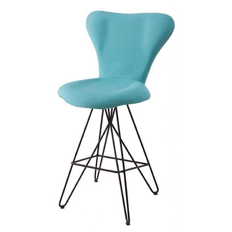 Banqueta-Jacobsen-Series-7-Azul-Claro-Base-Estrela-Preta---49712