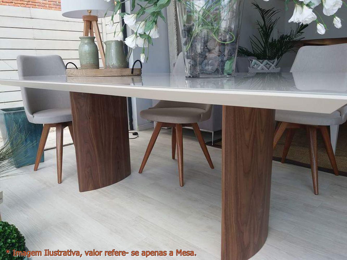 Mesa Jantar Disi Corda Acetinado com Nogueira 2,00 MT - 49798