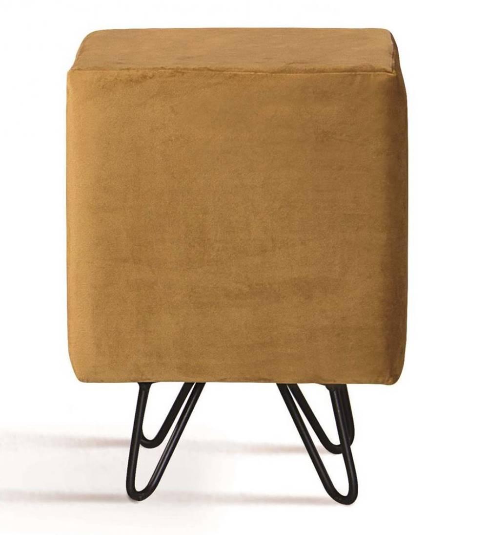 Puff Cube Caramelo Base Estrela Preta - 49870