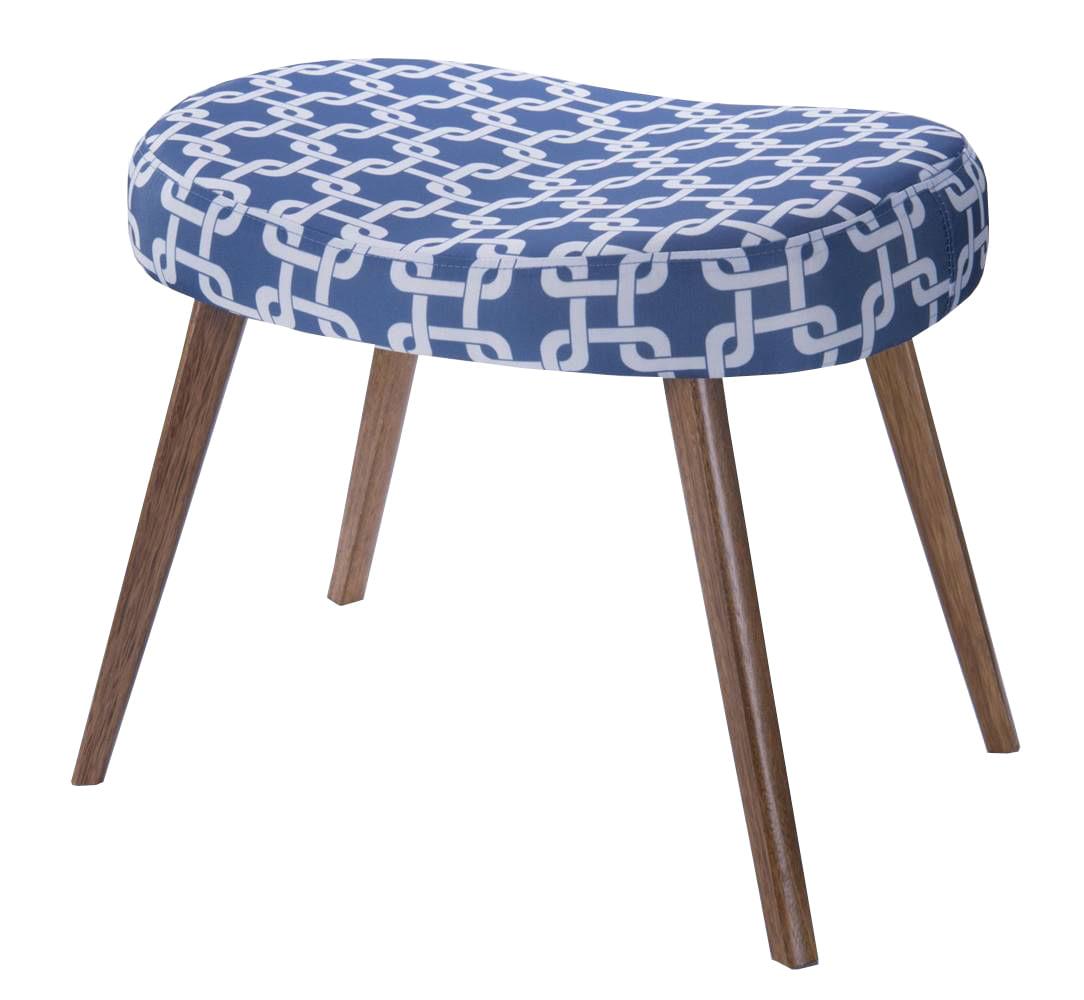 Puff Seed Estampa Rolls Azul Pes Palito Castanho - 49892