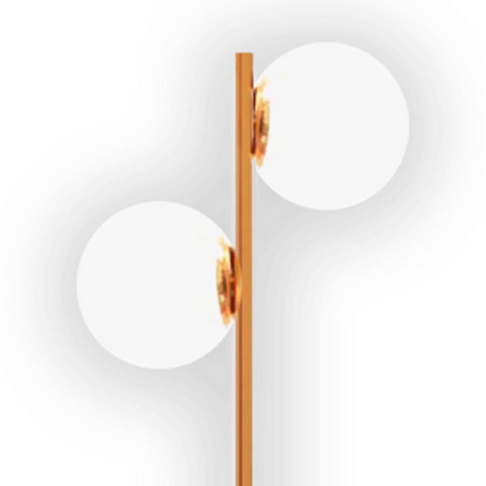 Luminaria de Chao Gloob Aco Cobre Escovado com Marmore Branco 1,42 MT (ALT) - 49758