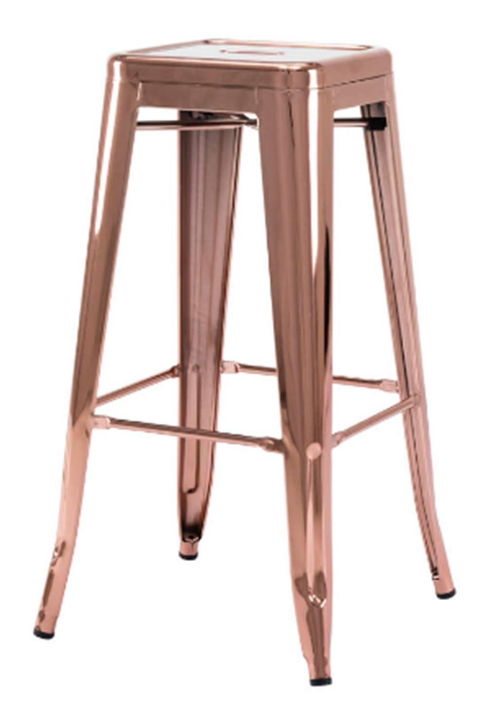 Banqueta Iron Alta Espelhada Cobre 76 cm (ALT) - 49947