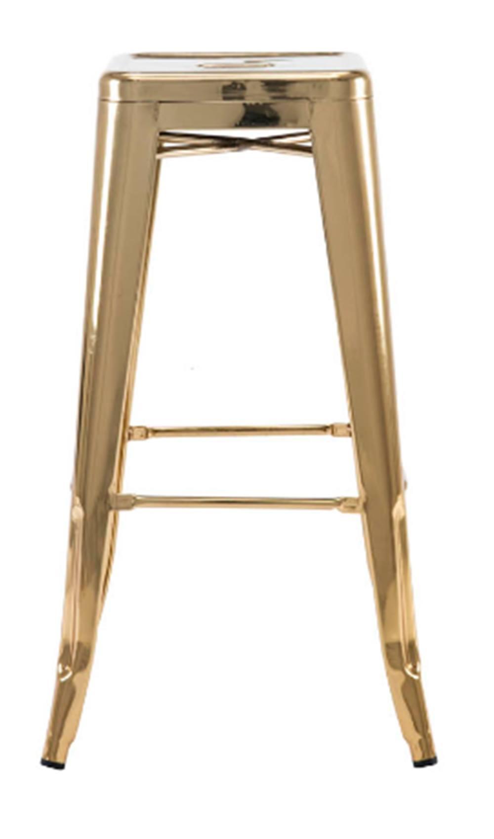 Banqueta Iron Alta Espelhada Dourada 76 cm (ALT) - 49950