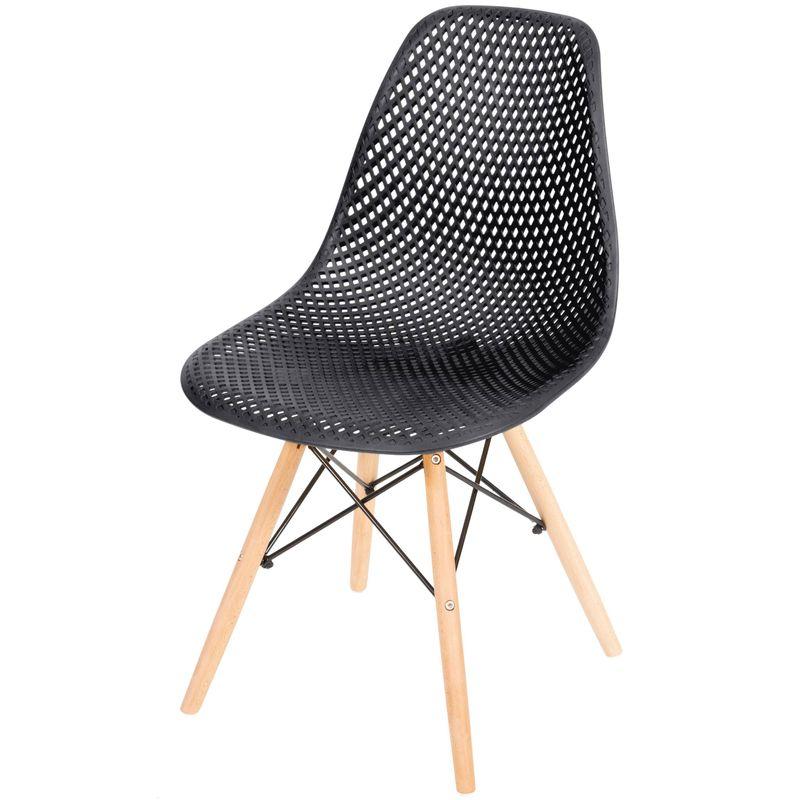 Cadeira-Eames-Furadinha-cor-Preta-com-Base-Madeira---50004