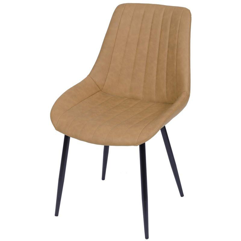 Cadeira-Lounge-PU-Caramelo-com-Costura-Vertical---50011