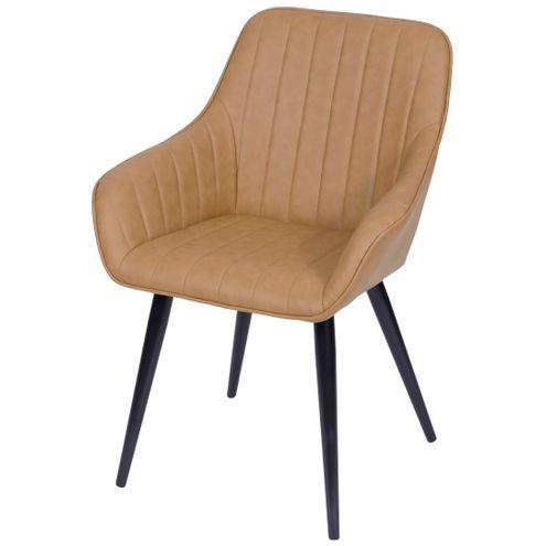 Cadeira-Lounge-com-Braco-PU-Caramelo-e-Costura-Vertical---50017