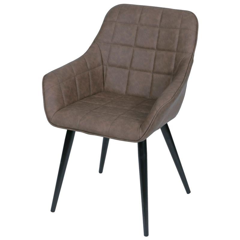 Cadeira-Lounge-com-Braco-PU-Cafe-e-Costura-Quadriculada---50022