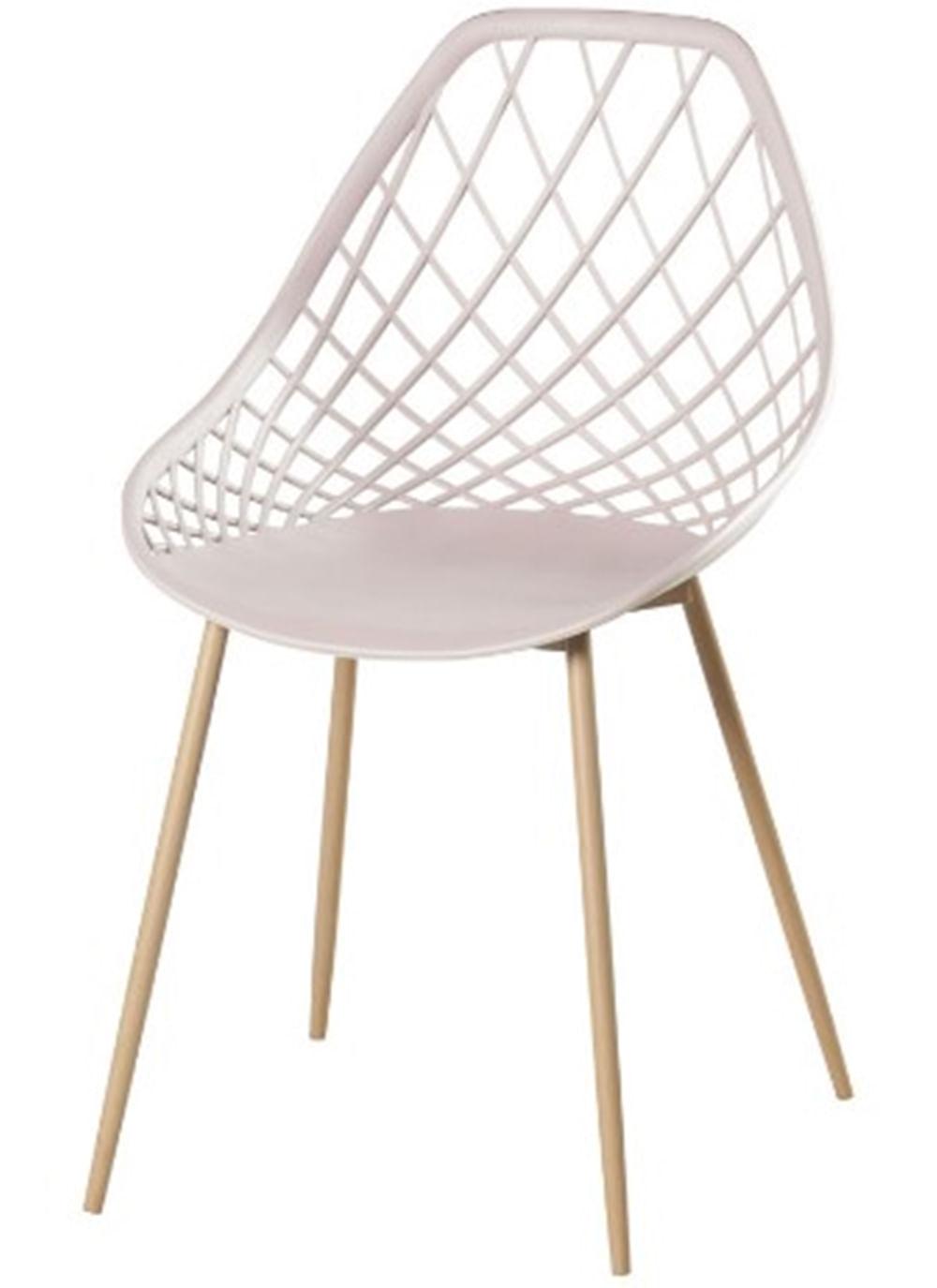 Cadeira Frank Nude Pes Bege  - 50066