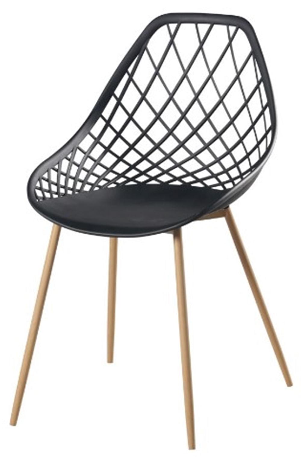Cadeira Frank Preta Pes Bege - 50067