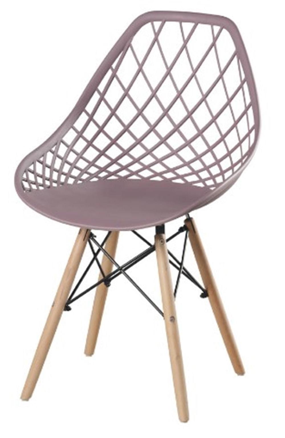 Cadeira Frank Camurca Base Madeira - 50069